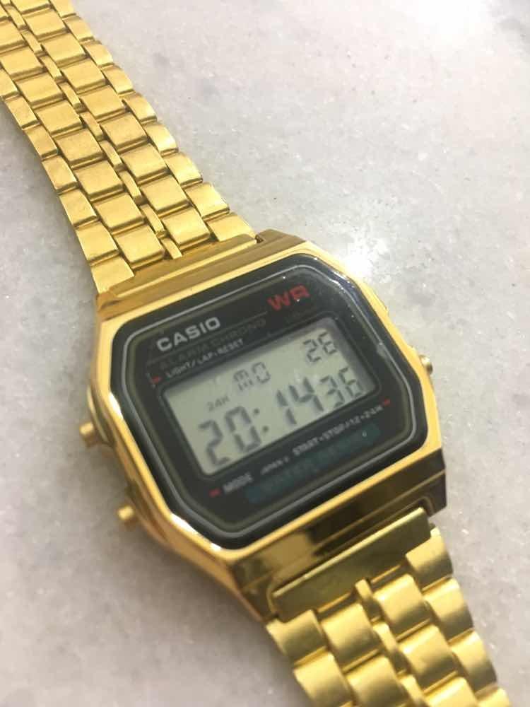 78afdb05786 relógio casio digital vintage dourado. Carregando zoom.