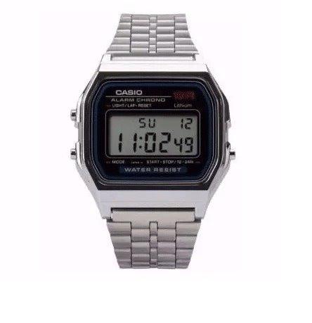 4cb925de587 Relógio Casio Digital Vintage Unissex Prata Na Caixa - R  54
