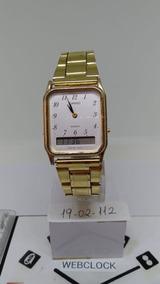 86a290af798c Relogio Casio Dourado Analogico Digital Unissex - Relógios De Pulso ...