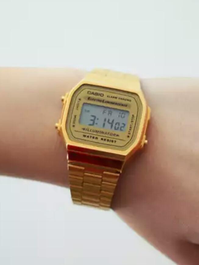 43eeaa870d0 relógio casio dourado banhado a ouro digital. Carregando zoom.