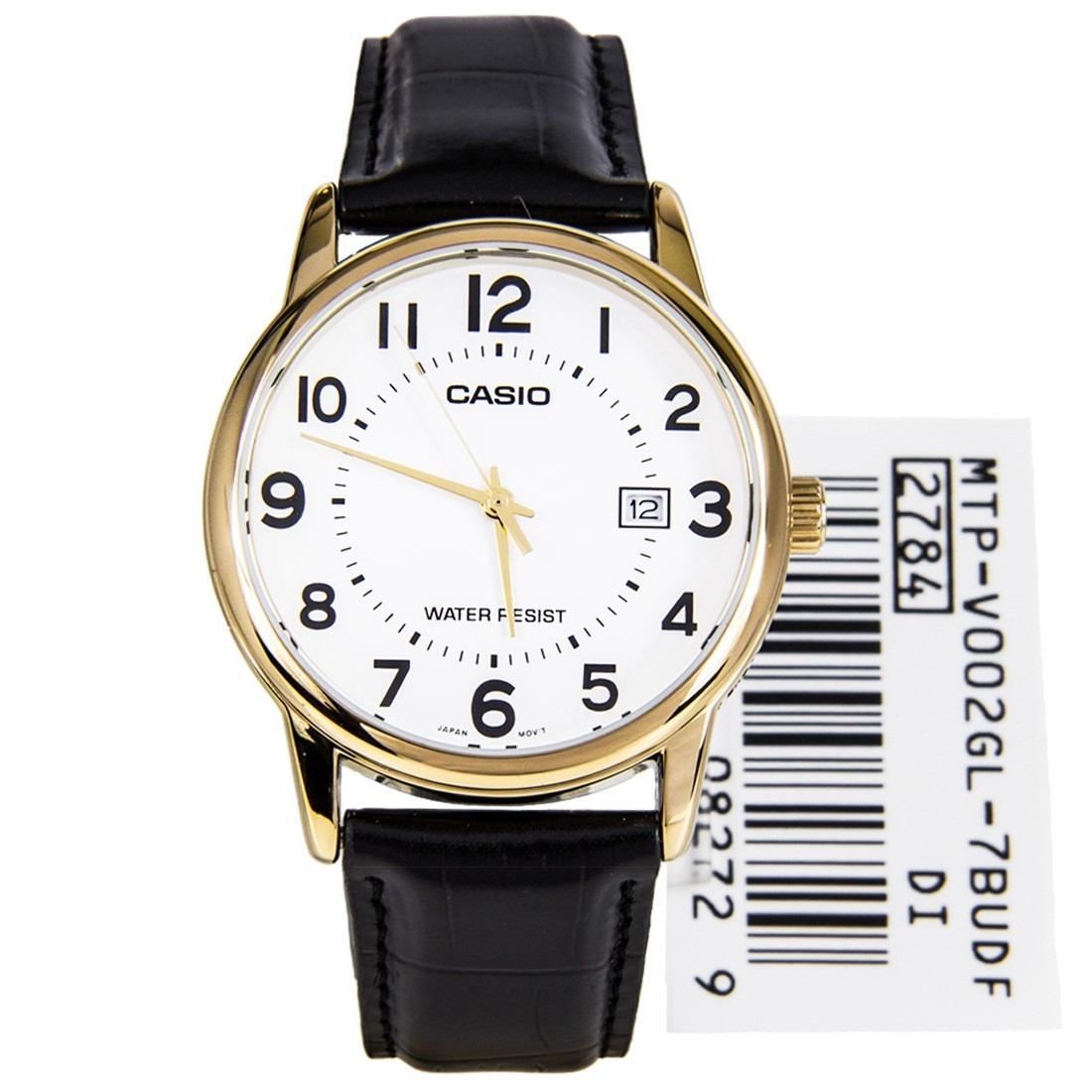 d7d026c39e5 relógio casio dourado em couro mtp-v002gl-7budf. Carregando zoom.