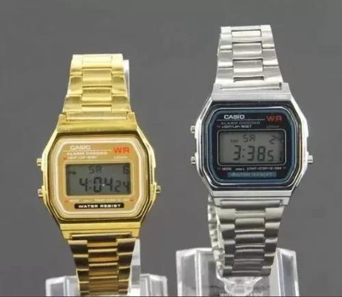 cd68548d65b Relógio Casio Dourado Prata Digital Unissex Vintage - R  23