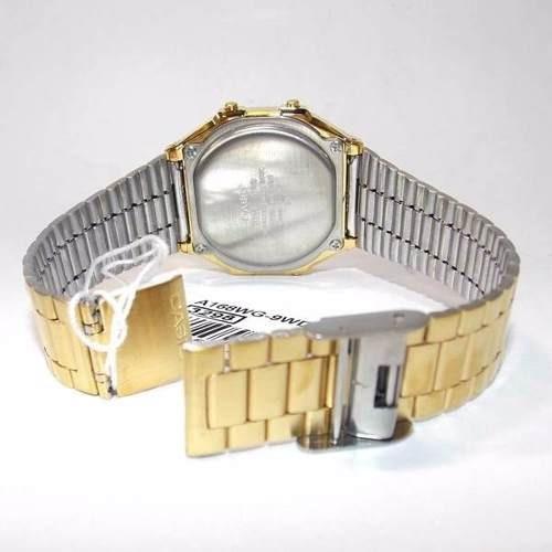 13530d77326 Relógio Casio Dourado Retrô A168wg-9 - 100% Original - R  259