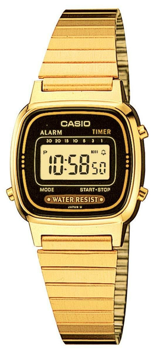 87bc1bcd6f7 relógio casio dourado vintage digital la670wga1dfu. Carregando zoom.