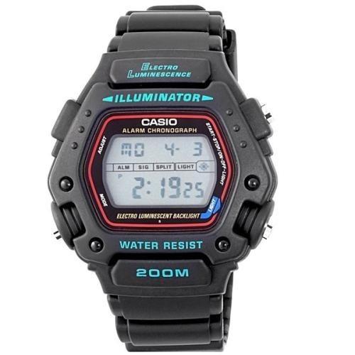 02a459c205e Relogio Casio Dw-290-1vs Cronometro 200 Metros Alarme - R  257