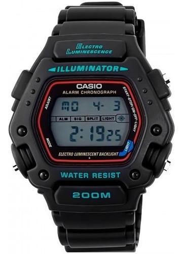 relógio casio dw-290-1vs militar cronógrafo - refinado