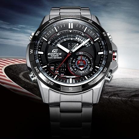 477edc885938 Relógio Casio Edifice Anadigi Cronograph Twin Sensor Era-200 - R ...