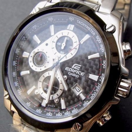 0ea216f3fdb Relógio Casio Edifice Ef-524sp-1av Crono Inox Fibra Carbono