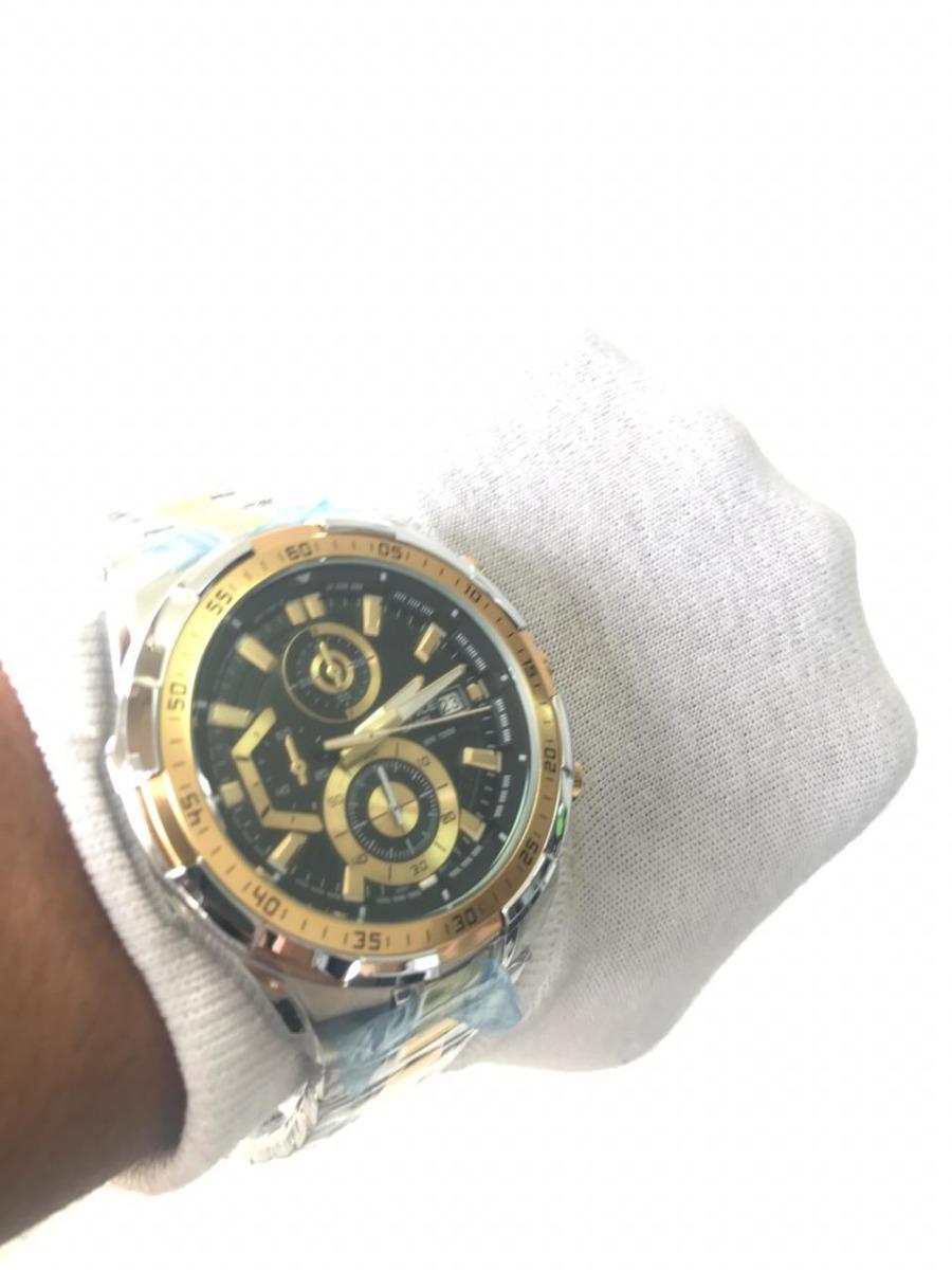 24e8b104240 relógio casio edifice ef 539 dourado fundo preto promoçã. Carregando zoom.
