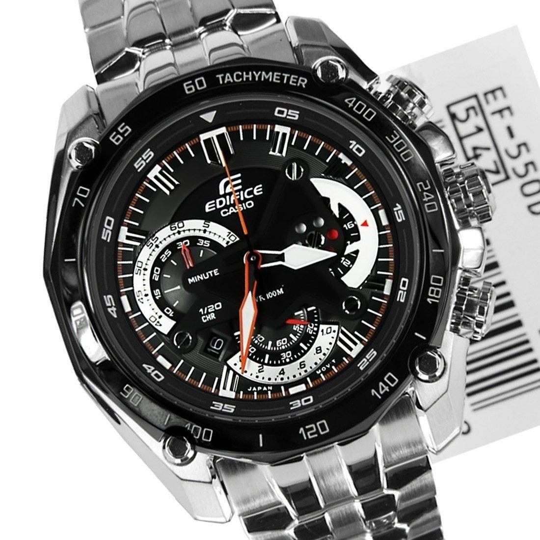 9661022699c relógio casio edifice ef 550 prata fundo preto s cx. Carregando zoom.