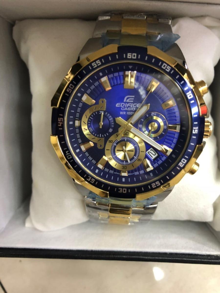 240ca1a91d5 relógio casio edifice ef 554 mistro mostrador azul s cx. Carregando zoom.