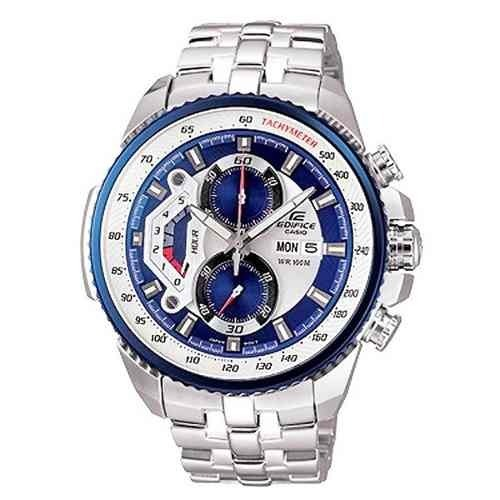 60ae03d003c1 Relógio Casio Edifice Ef-558 Azul Prata Original Promocao - R  219 ...