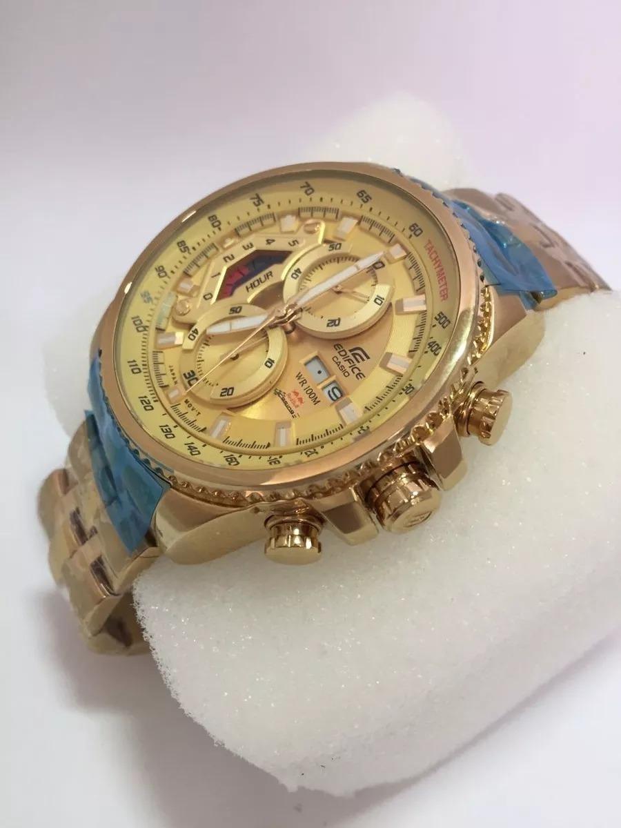 1f399f55c3e relogio casio edifice ef 558 dourado branco original gold. Carregando zoom.