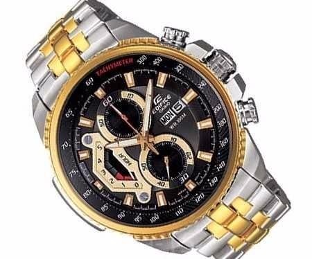 723c0e1ff59 Relogio Casio Edifice Ef-558 Misto Gold Black Preto Promocao - R ...