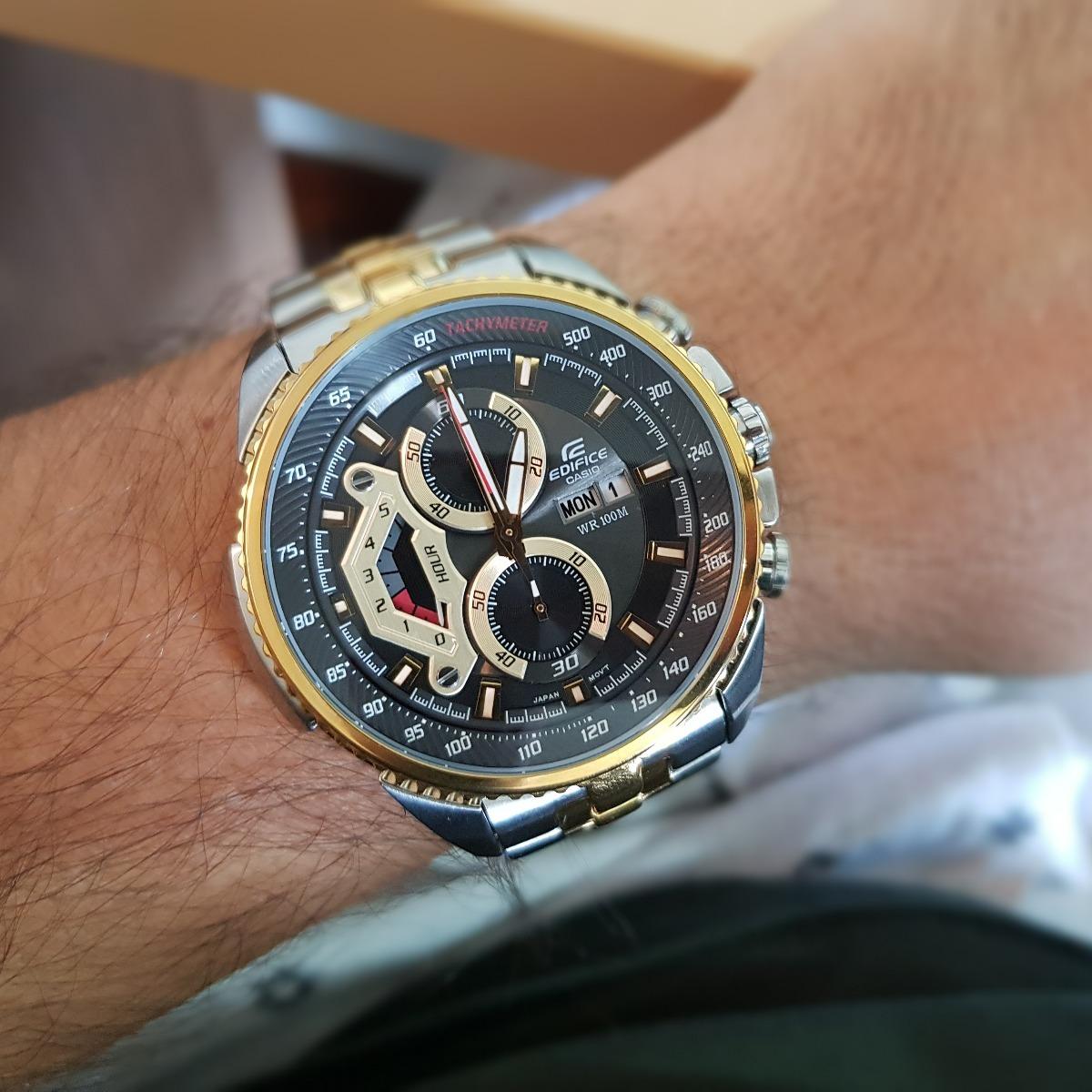 0f5ae1015bf Relógio Casio Edifice Ef-558sg-1avudf Misto Cronógrafo - R  649