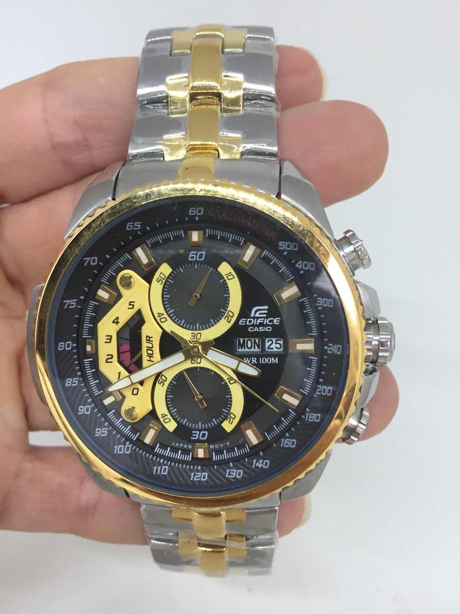 9518789227db relógio casio edifice ef558 prata e dourado. Carregando zoom.