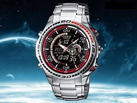 7f6e121c752 Relógio Casio Edifice Efa-121 Termômetro 50 Cidades Novo Pt - R  469 ...