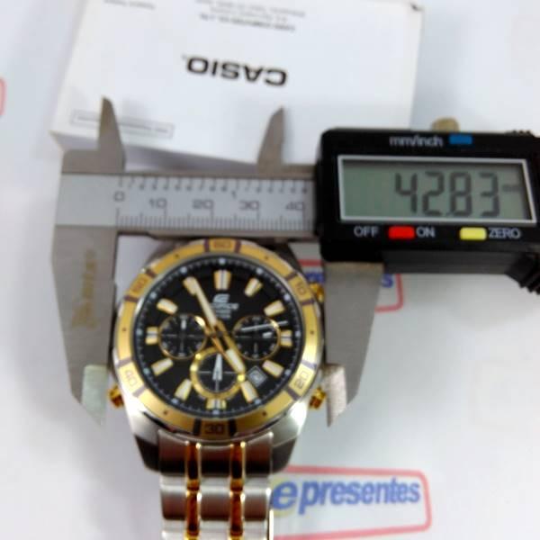 69393cdfb99 Relógio Casio Edifice Efr-534sg Com Iluminação 100% Original - R ...