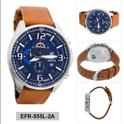 f2b9b7ccf45 Relogio Casio Edifice Efr-555l-2 Pulseira Couro Efr-539d - R  627