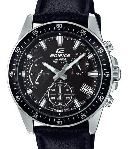 relógio casio edifice masculino couro -  efv-540l-1avudf