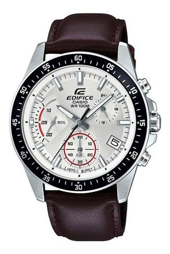 relógio casio edifice masculino couro efv-540l-7avudf