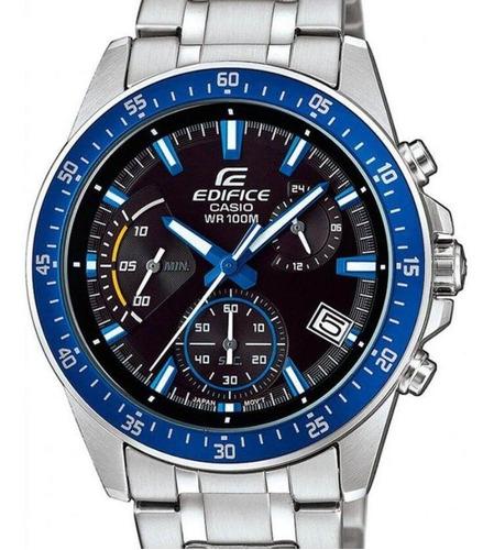 relógio casio edifice masculino prata - efv-540d-1a2vudf