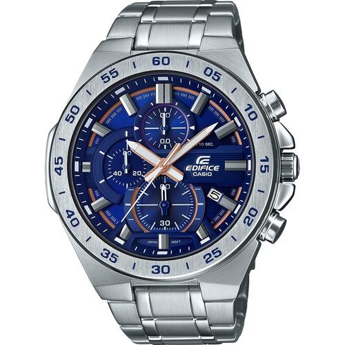 relógio casio edifice prata azul efr-564d-2avudf