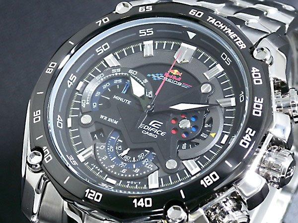 fb3ca773937 Relógio Casio Edifice Red Bull Ef550 Prata Fundo Preto Pro - R  235 ...