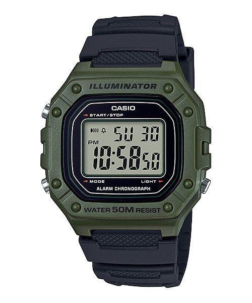 e3697258311 Relógio Casio Esportivo W218h-3 Verde 50m Illuminator W218 - R ...