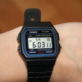 cf70448d6cfd Dourado Rel Gio Casio F 91w 9qdf Preto - Relógios De Pulso no Mercado Livre  Brasil