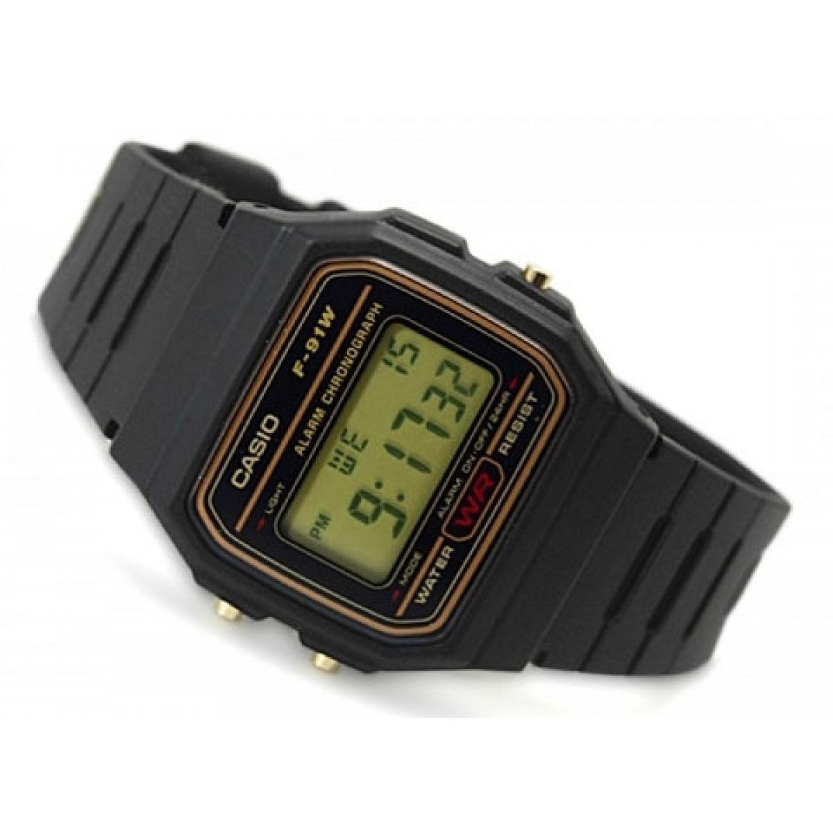 dafeb440de3 relógio casio f 91 série ouro original. Carregando zoom.