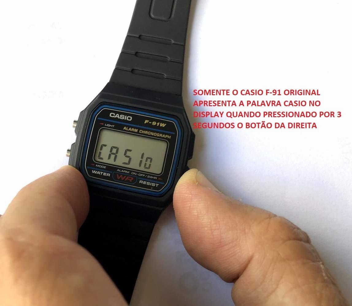 462781ffba78 Relogio Casio F-91w-1 Digital Unissex Retrô Vintage Original - R  69 ...