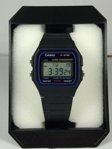 relógio casio f-91w 1dg retrô vintage original