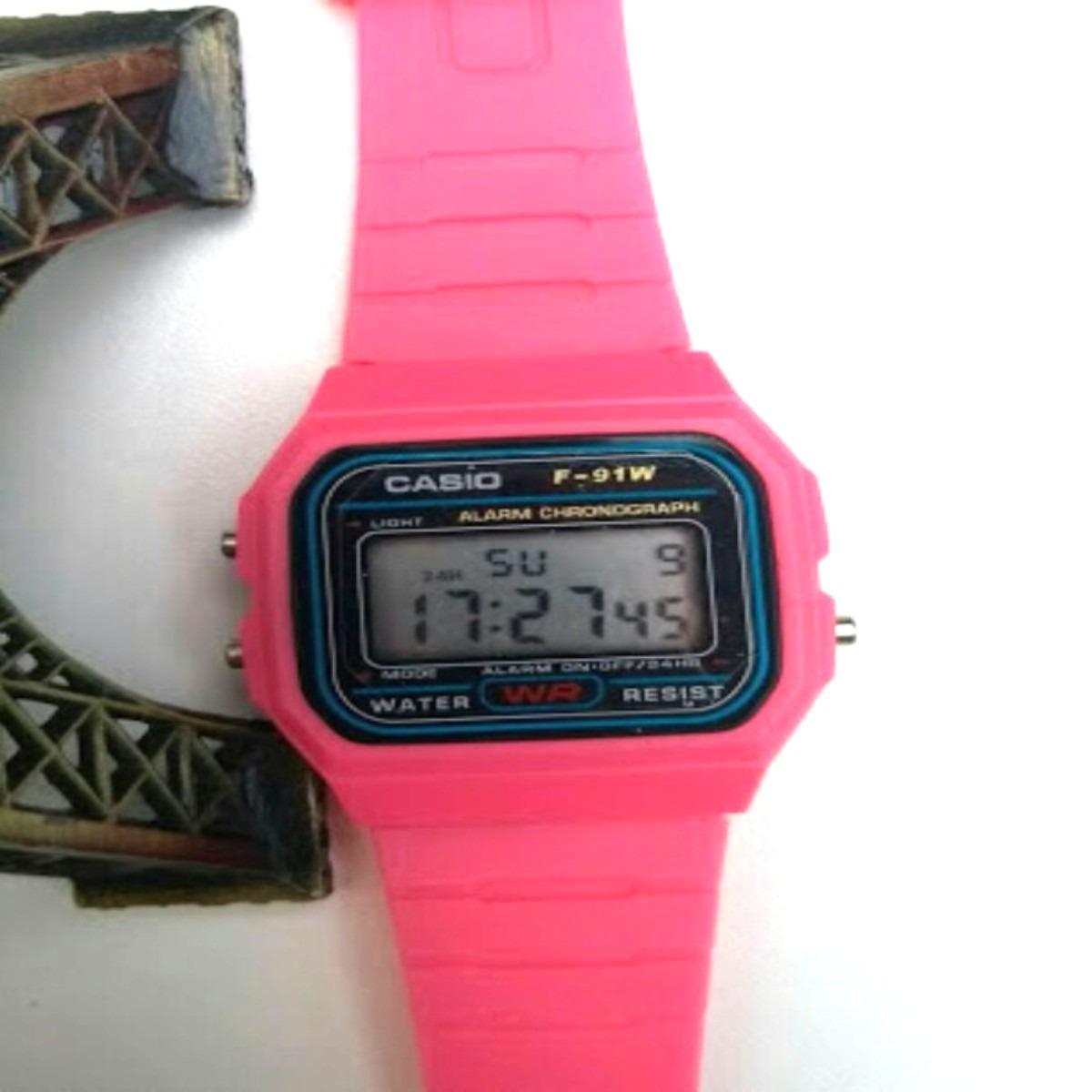 c2b04b96813 relógio casio f-91w feminino masculino colorido em promoção. Carregando  zoom.