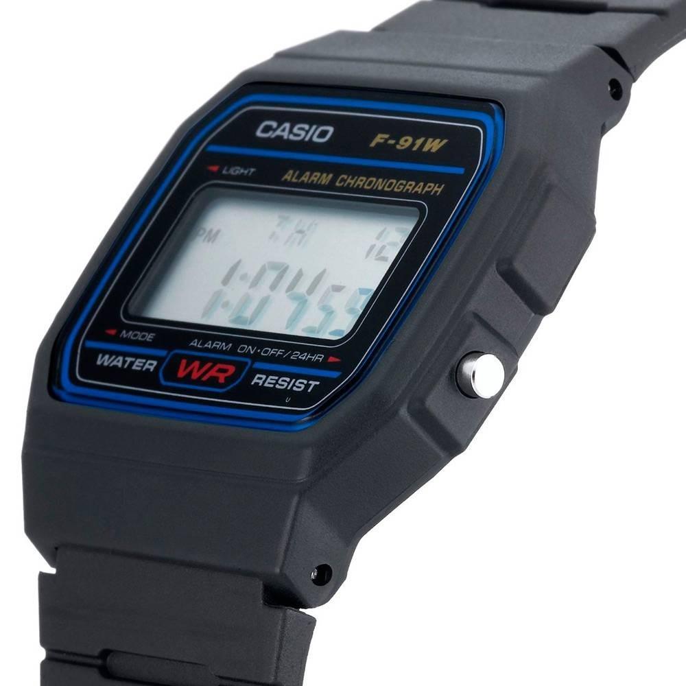 a8325275a Relógio Casio F-91w Original Série Azul Prova D Água - R  24