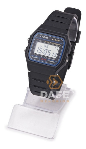 relógio casio f-91w série prata unissex original c/caixa nf