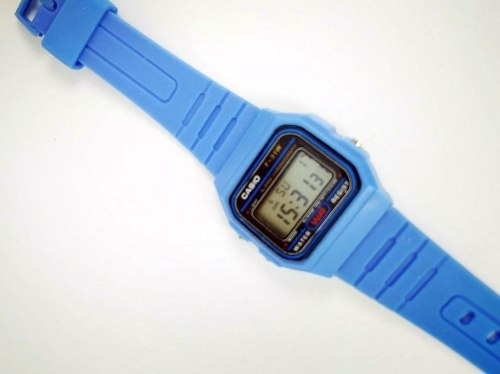 7dc4020fce8 Relogio Casio F91w Azul Claro Borracha Promoção - R  9