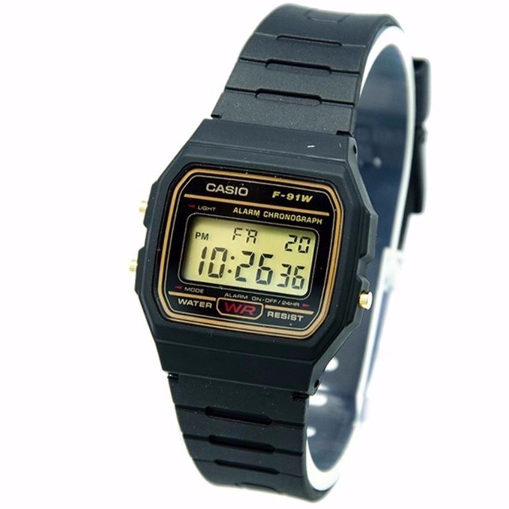 5b4f833f34d Relógio Casio F91w Serie Ouro 100% Original Moderno - R  87