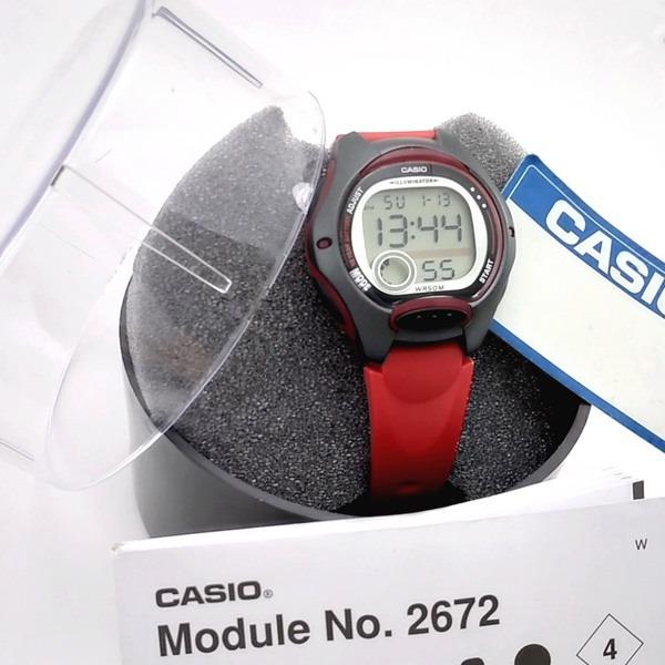 8e450924504 lw-200-4av relogio casio digital feminino pequeno vermelho · relogio casio  feminino
