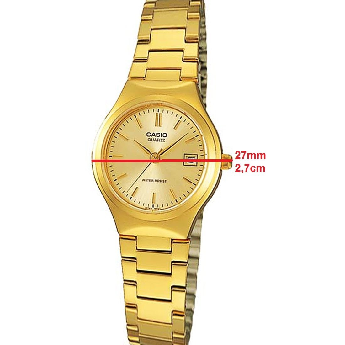 89d22f6ce2f Relogio Casio Ltp 1170n-9a Feminino Dourado Data Wr Clássico - R ...