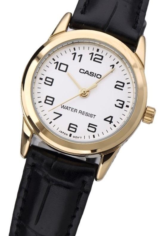 47ade42ab77 Relógio Casio Feminino Analógico Couro Wr Ltp-v001gl-7budf - R ...