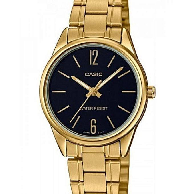 289d9b37e8c Relógio Casio Feminino Analógico Dourado Wr Ltp-v005g-1budf - R  219 ...
