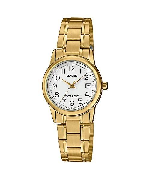 fd79089cf30 Relógio Casio Feminino Analógico Prata Wr Ltp-v002g-7b2udf - R ...
