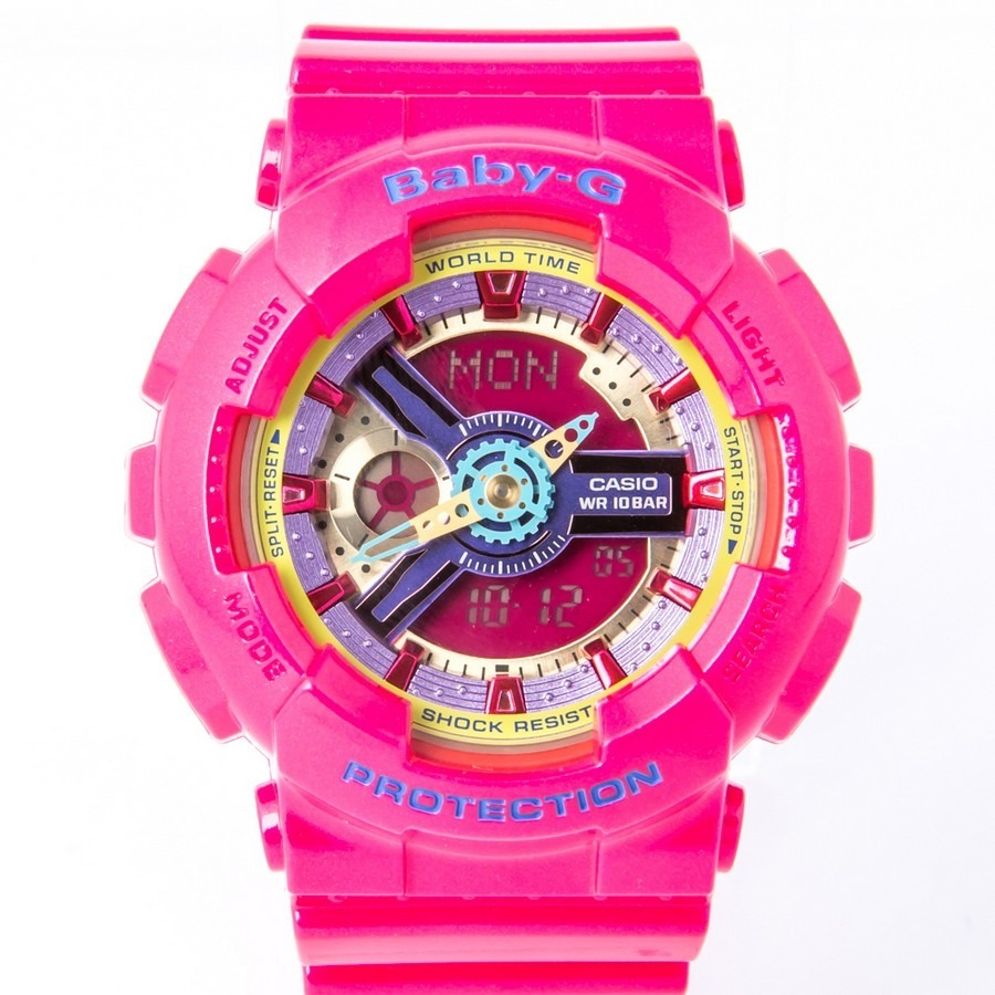 ecb1bf0b6f3 relógio casio feminino baby-g analógico digital ba-112-4adr. Carregando  zoom.