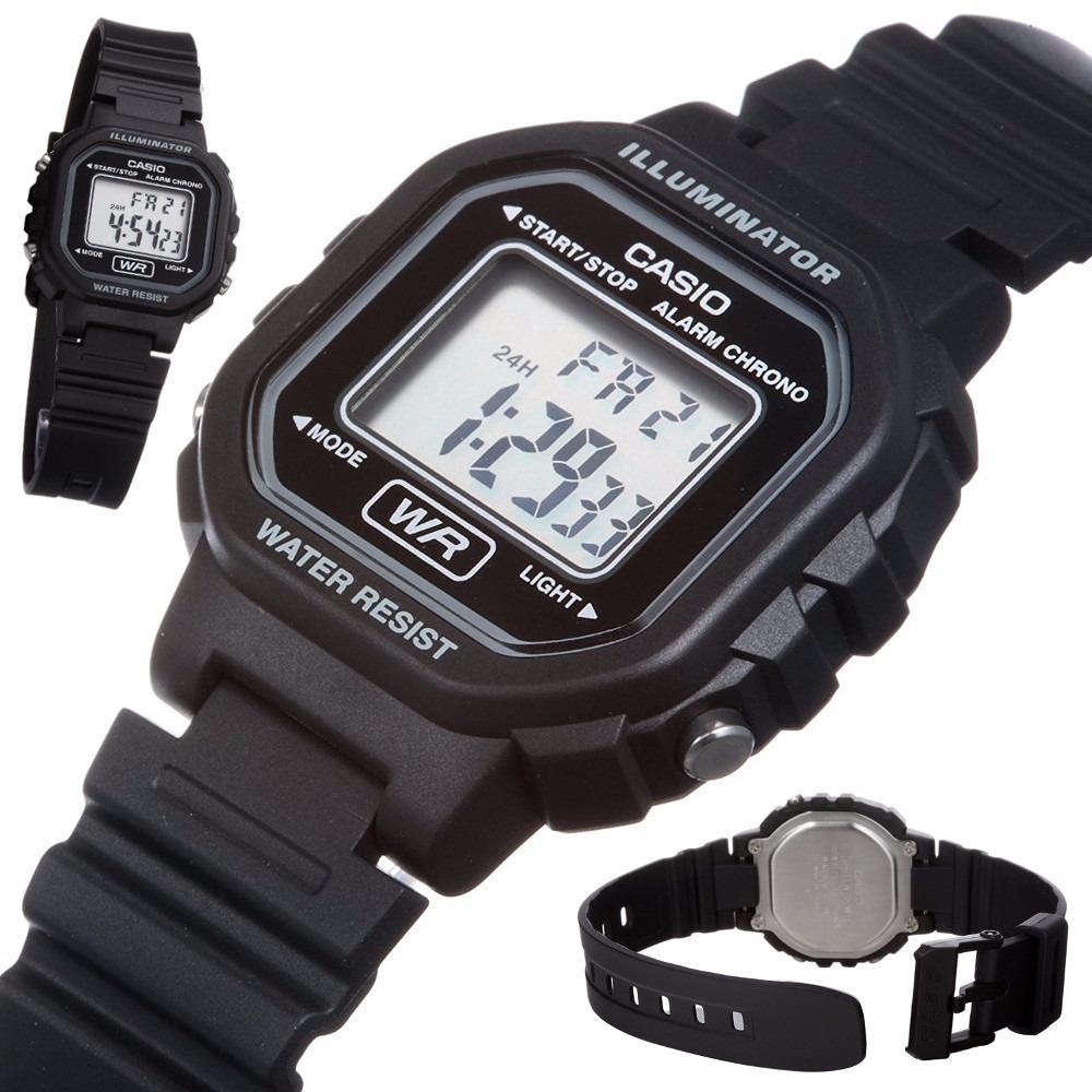 60e87608357 relógio casio feminino digital esportivo preto la20wh-1adf. Carregando zoom.