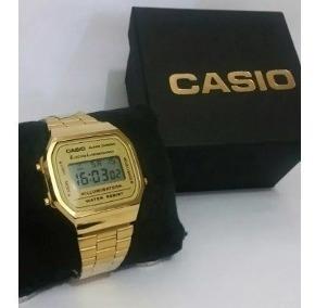 relogio casio feminino dourado +caixa - liquidação ca01