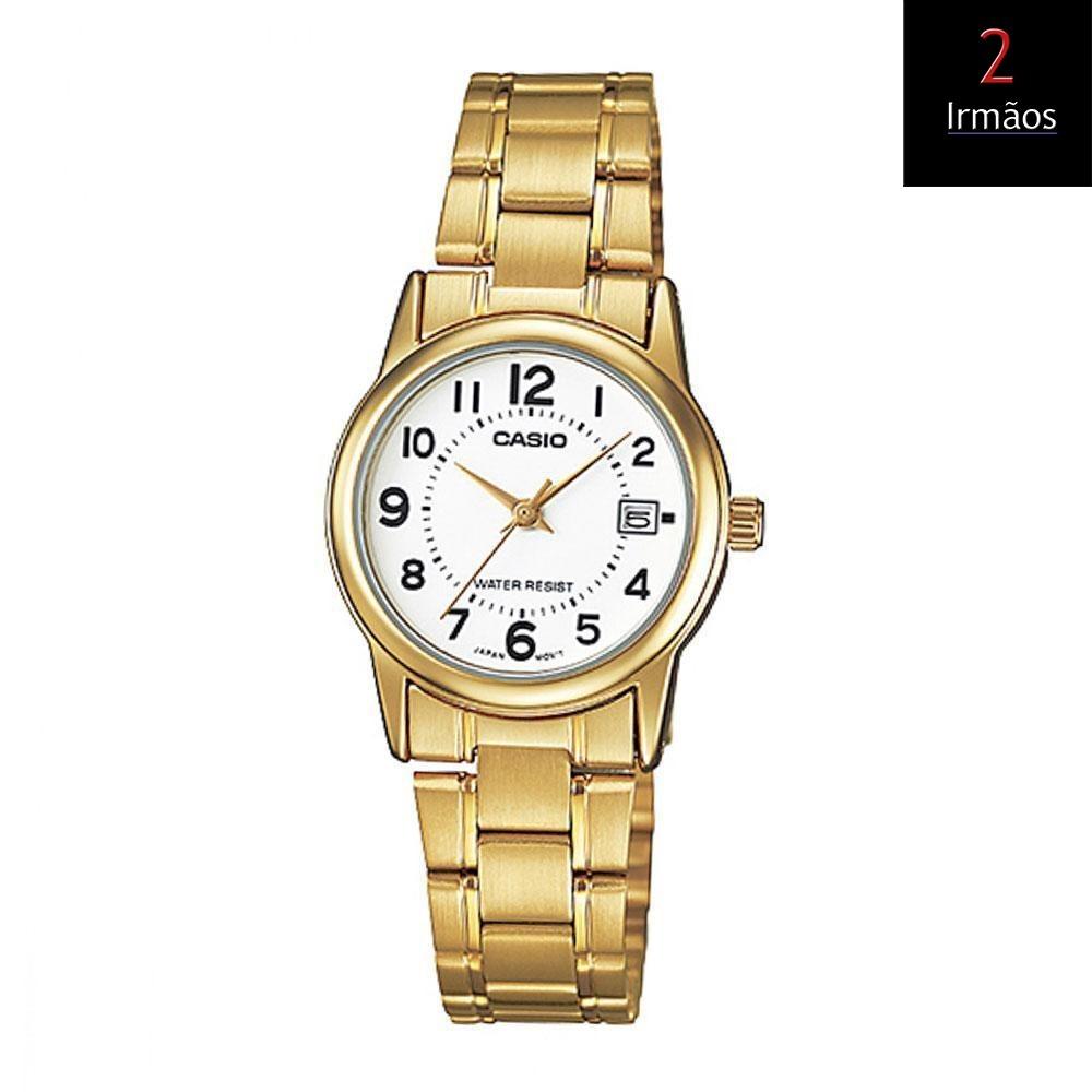 35a5e18ea58 relógio casio feminino dourado ltp-v002g-7b2udf. Carregando zoom.