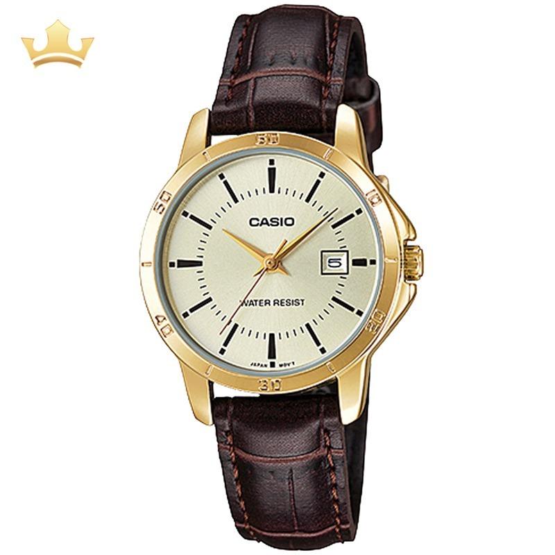 e7f2ee88209 Relógio Casio Feminino Ltp V004gl 9audf Com Nf - R  164