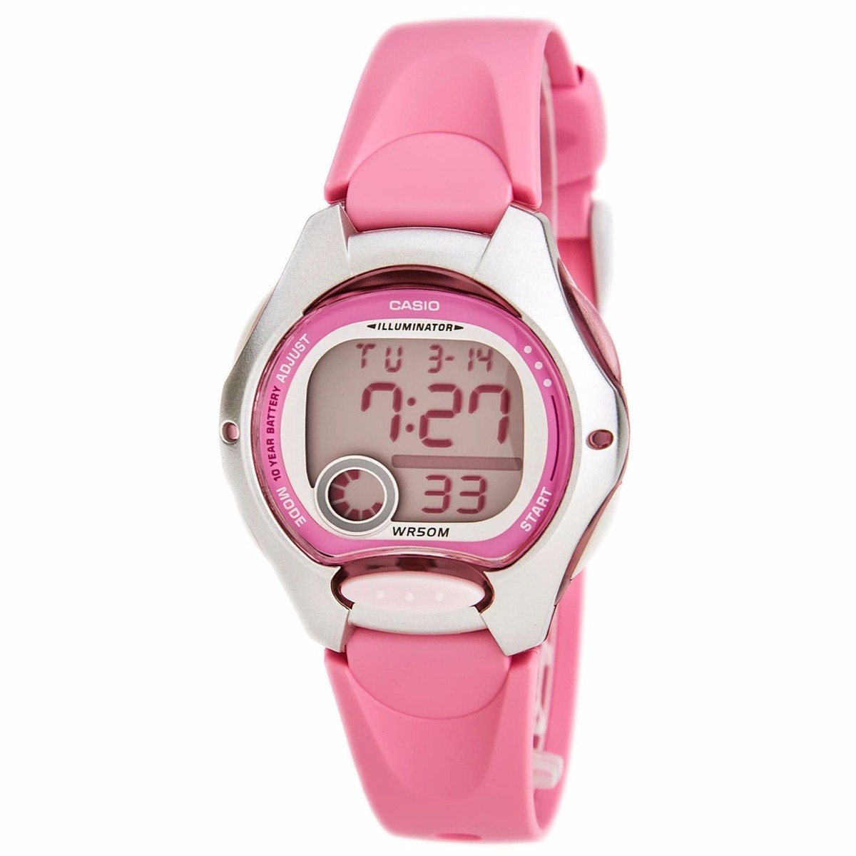 493bfa711d7 Relógio Casio Feminino Lw-200 Cronômetro Alarme Borr ro Rosa - R  169