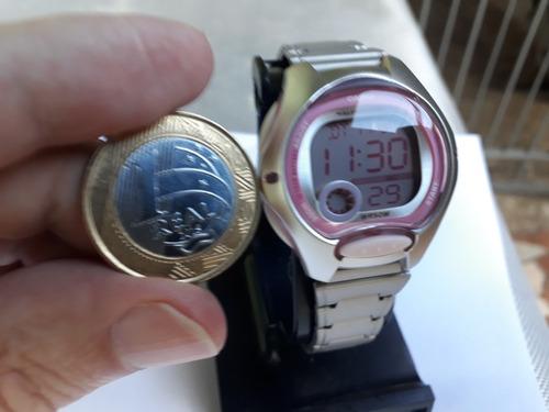 relógio casio feminino lw 200 rosa aço prova dágua 50 mtrs